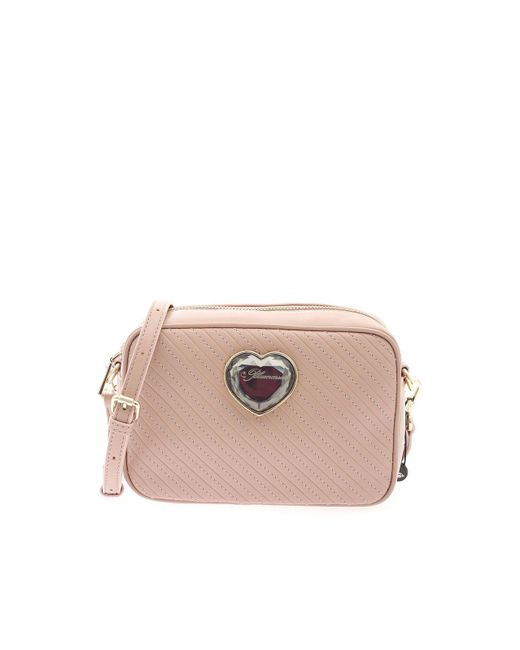be Blumarine Pink Shoulder Bag In Nude Color