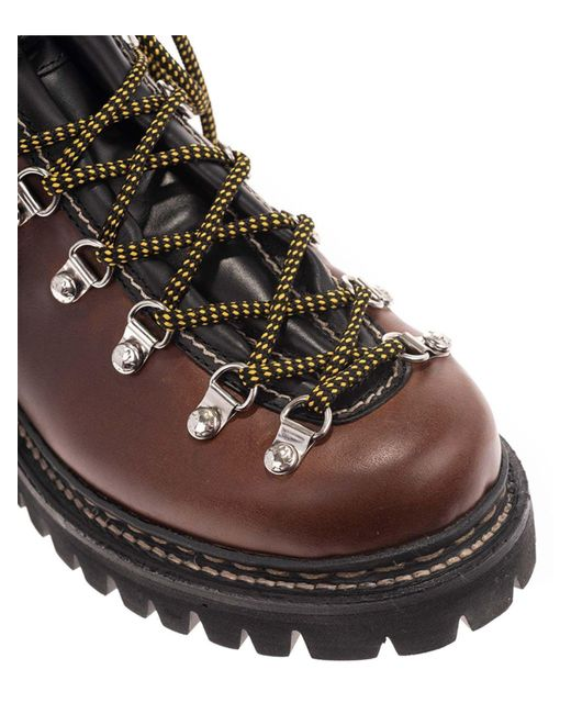 DSquared² Lug Sole Ankle Boots In Brown for men
