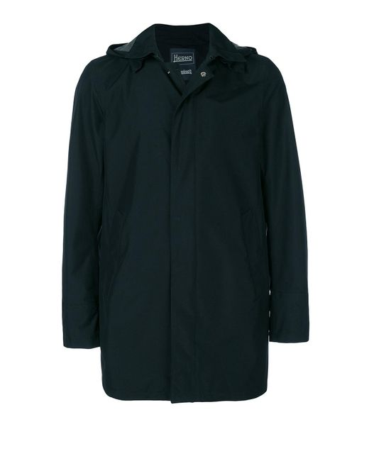 Herno Blue Rear Vent Detailed Raincoat for men