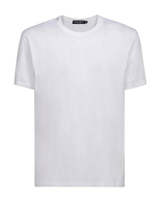 T-Shirt Bianca di Dolce & Gabbana in White da Uomo
