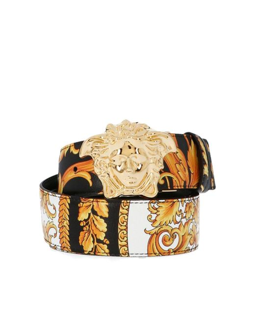 Versace Heritage Reversible Multicolor Belt for men