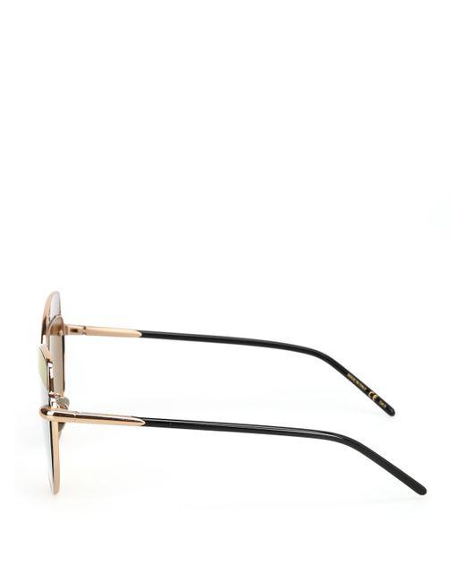 Pomellato Block Lens Cat Eye Sunglasses In Gold (Metallic