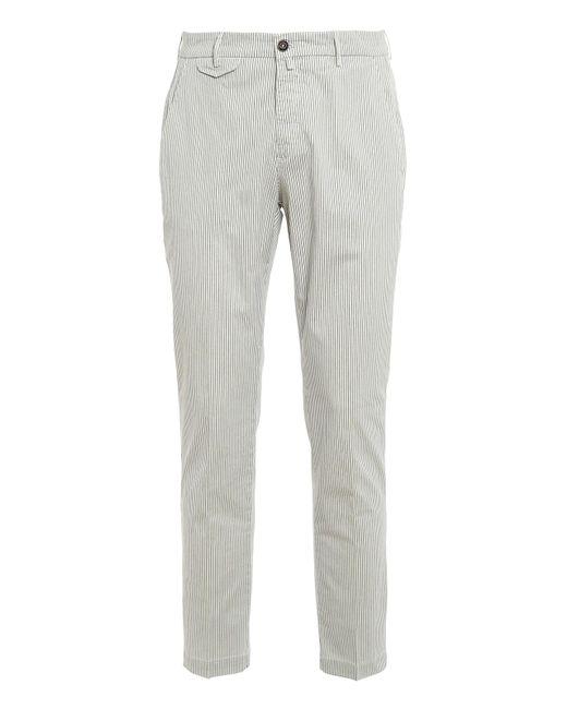 Pantaloni in cotone a righe di Briglia 1949 in White da Uomo