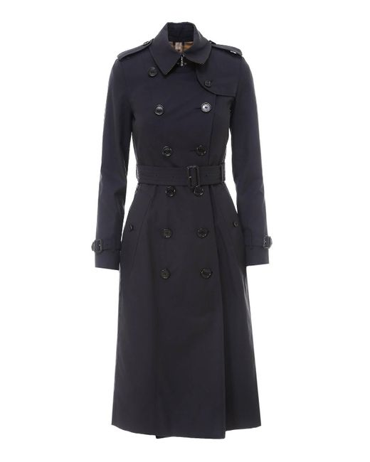 Trench The Chelsea Heritage di Burberry in Blue