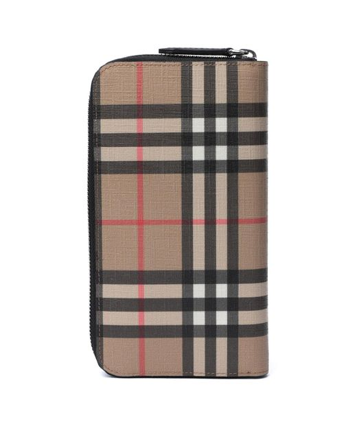 Burberry Natural Vintage Check Zip-around Wallet