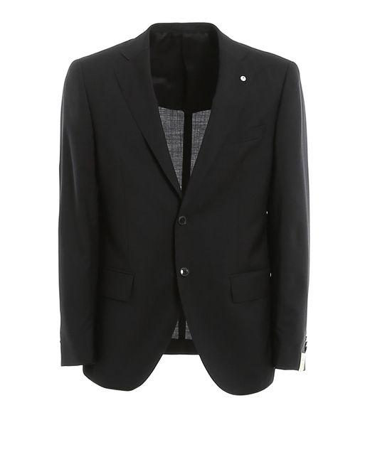 L.b.m. 1911 Gray Virgin Wool Suit for men