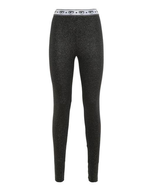Chiara Ferragni Black Logomania leggings