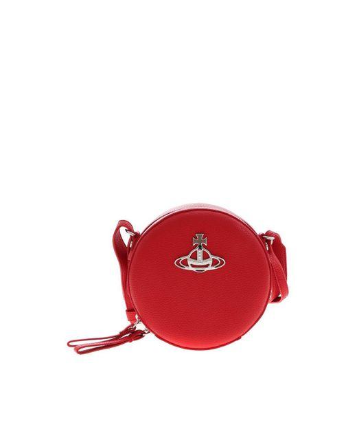 Vivienne Westwood Johanna Round Crossbody Bag In Red