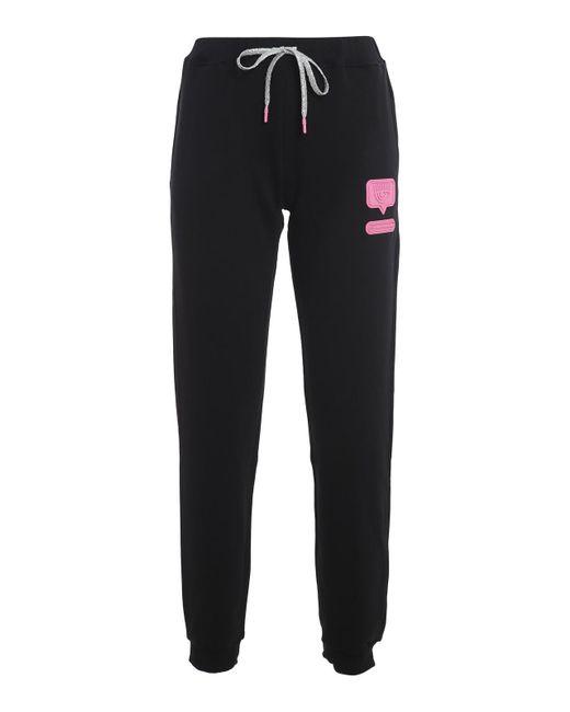 Pantaloni della tuta Eyelike di Chiara Ferragni in Black