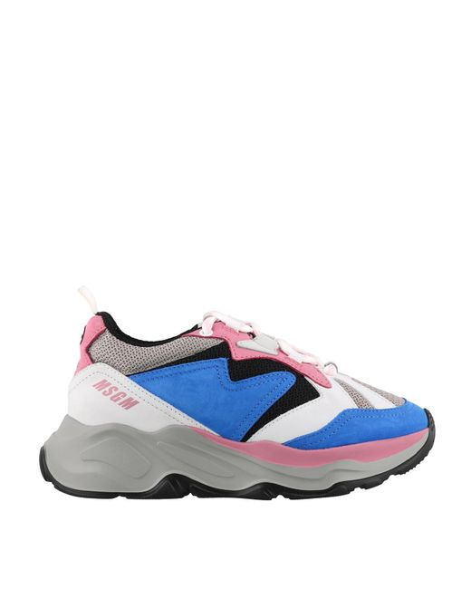 MSGM Blue Attack Sneakers for men