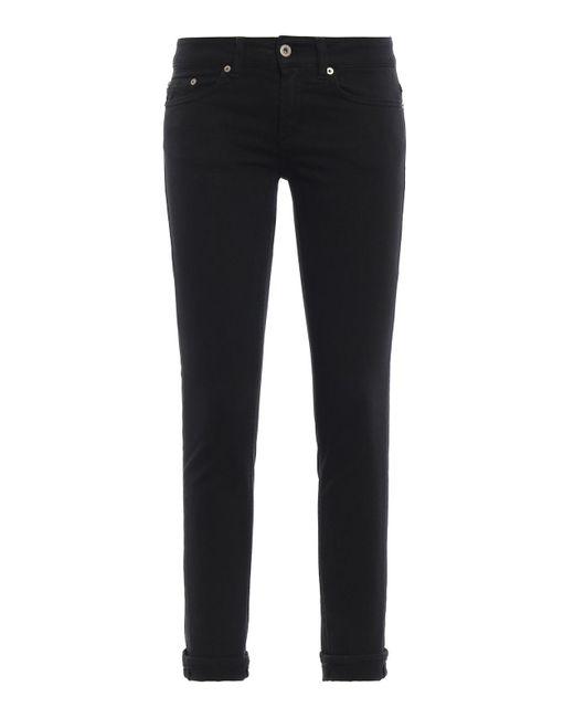 Dondup Black Monroe Skinny Five Pocket Jeans
