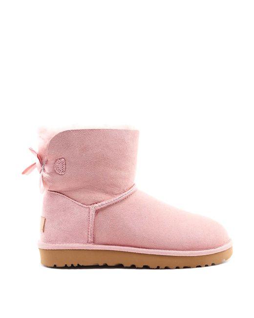 Ugg Mini Bailey Bow Ii Pink Booties