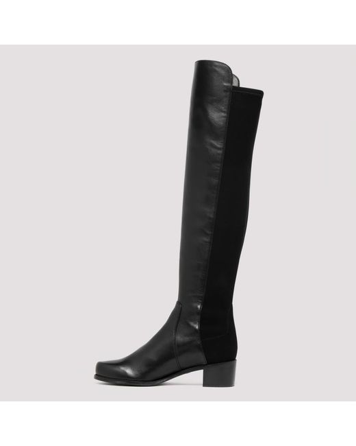 cheap price new release latest fashion Stuart Weitzman Leather Black Reserve Boots - Lyst