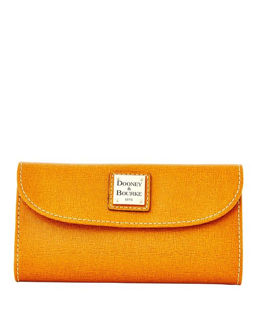 Lyst - Dooney   Bourke Saffiano Continental Clutch in Natural - Save 13% 5cde6c98fd