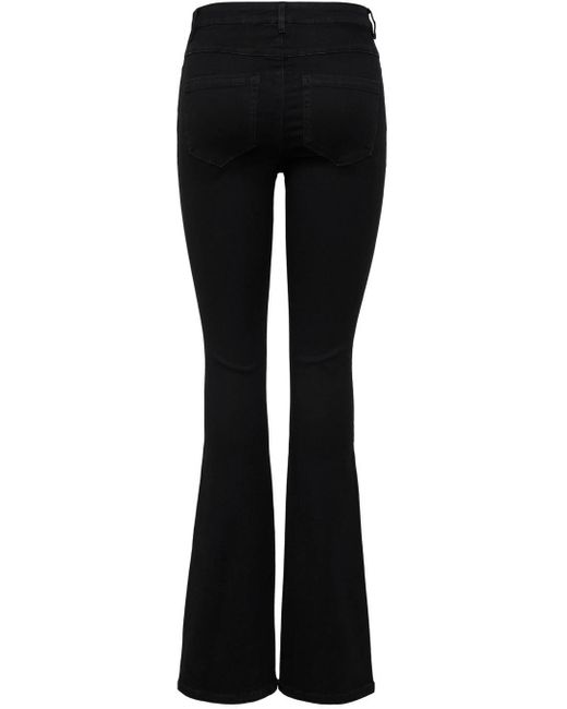 ONLY Black Bootcut-Jeans ONLROYAL LIFE HIGH SWEET FLARE
