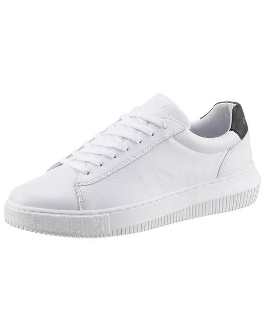 Calvin Klein Sneaker, mit leicht ausgestellter Laufsohle in White für Herren