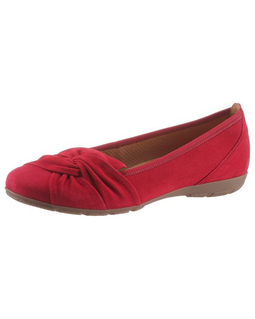 Gabor Red Ballerina, in dezenter Faltenoptik