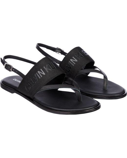Calvin Klein Black Sandale, mit weichem Zehensteg