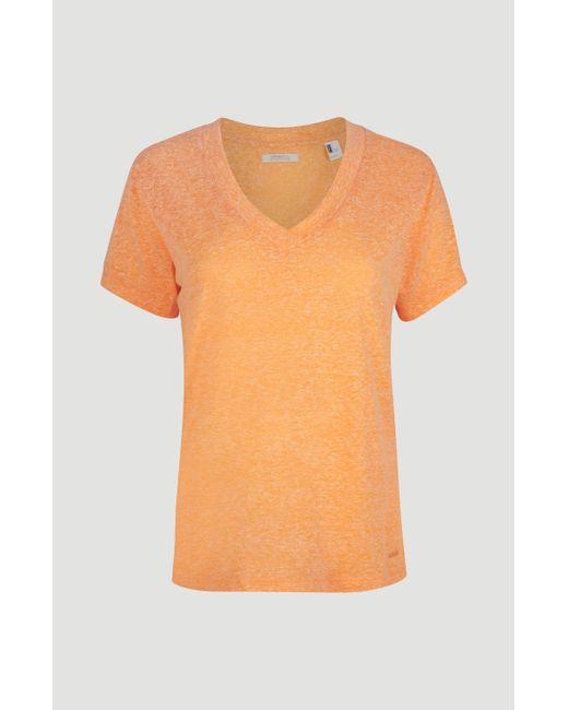 O'neill Sportswear Orange V-Shirt Essentials, mit V-Ausschnitt
