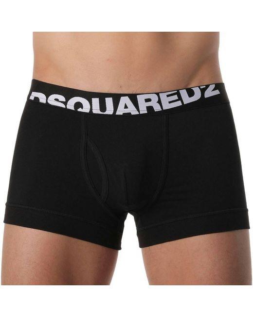 Boxer Logo DSquared² pour homme en coloris Black