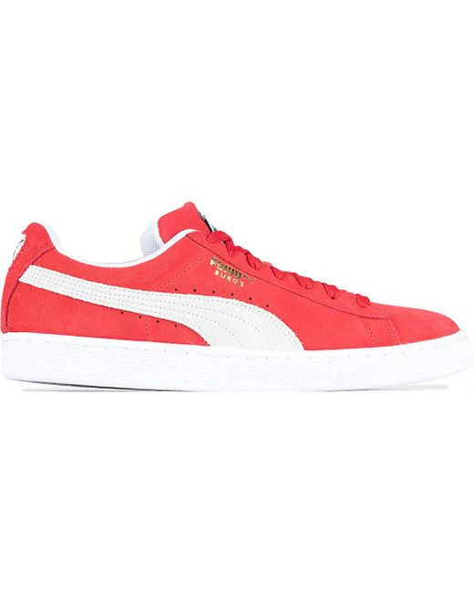 PUMA Suede Classic Sneakers in Red for