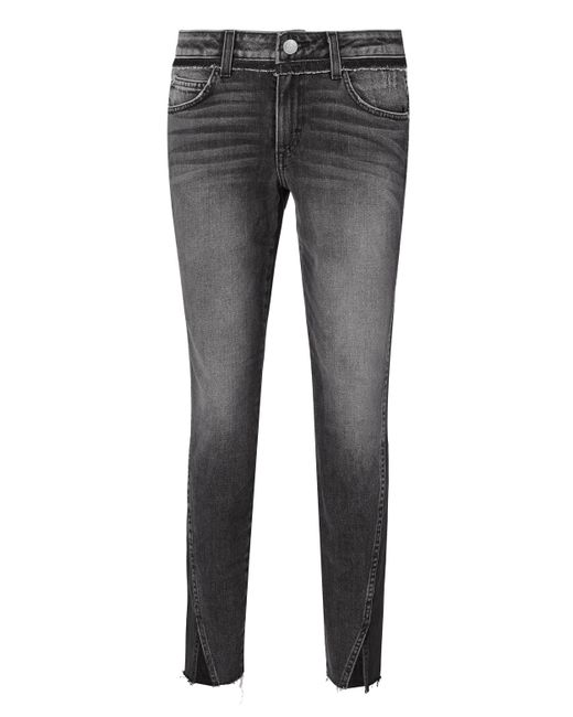 AMO   Gray Twist Two-tone Stormy Jeans   Lyst