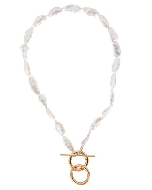 Loren Stewart Metallic Del Mar Pearl toggle Necklace