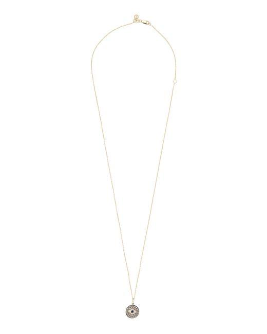 Sydney Evan | Metallic Evil Eye Diamond Necklace | Lyst