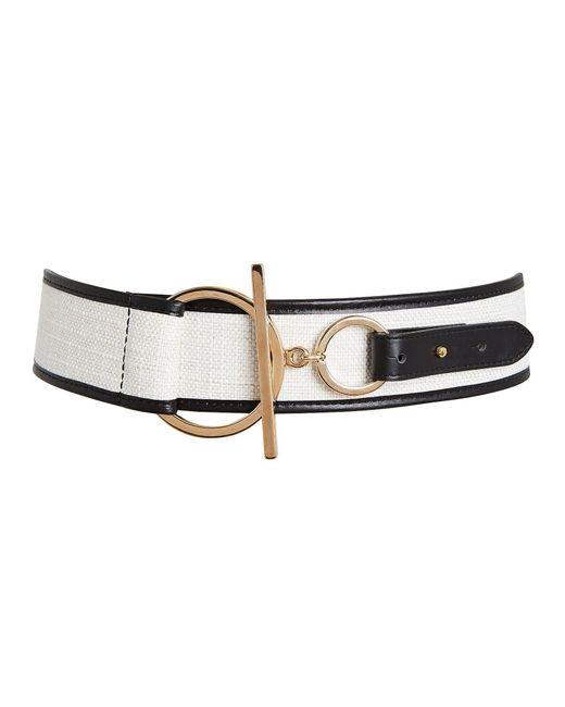 Maison Boinet Black Canvas Corset Waist Belt