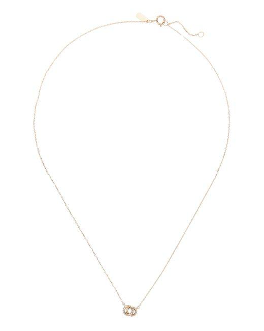 Adina Reyter - Metallic Pavé Interlocking Loop Necklace - Lyst