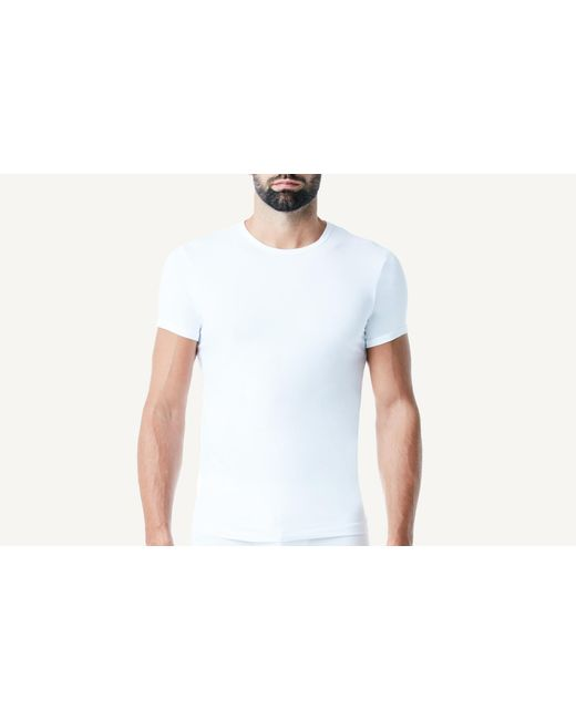 Intimissimi - White Microfiber Crew Neck T-shirt for Men - Lyst