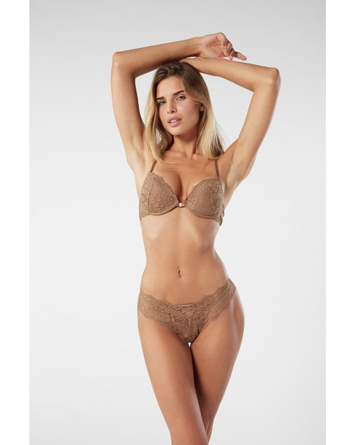 Intimissimi Natural Simona Laces Lace Super Push Up Bra