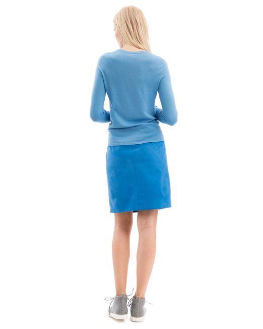 iris von arnim pullover riverstone in blue lyst. Black Bedroom Furniture Sets. Home Design Ideas