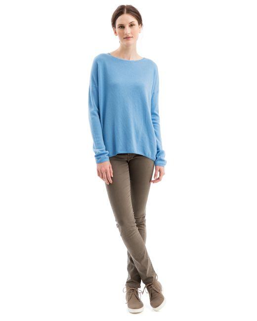 iris von arnim pullover merrilon mit fransen in blue lyst. Black Bedroom Furniture Sets. Home Design Ideas