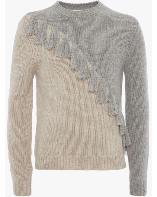 J.W. Anderson Gray Tassel Details Knitted Jumper for men