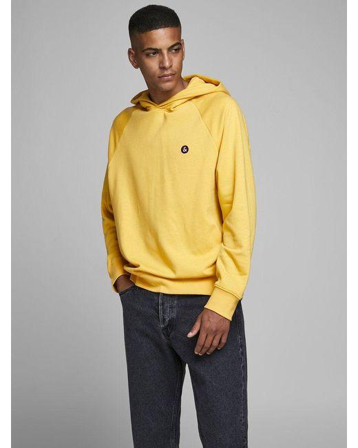 Sweat, Envers Bouclé Sweat À Capuche Jack & Jones pour homme en coloris Yellow