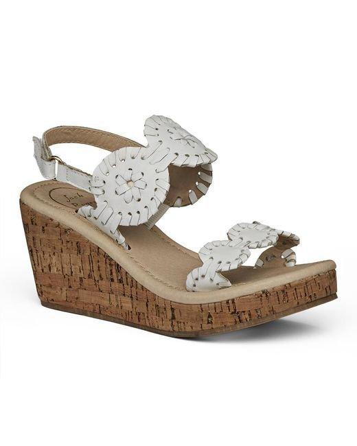 Jack Rogers - White Little Miss Luccia Wedge - Lyst