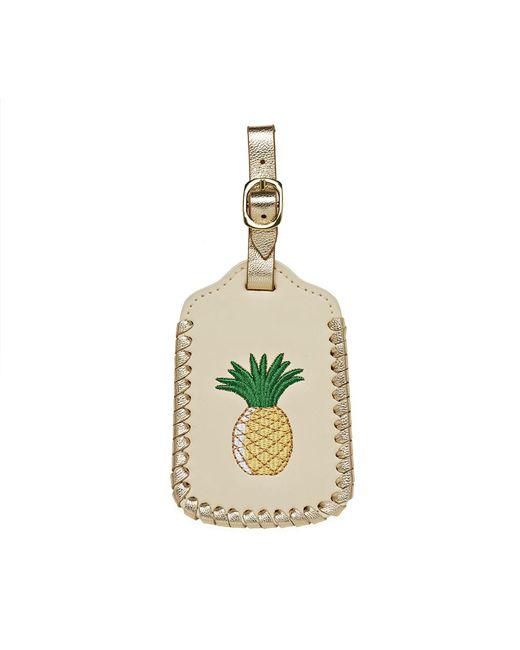 Jack Rogers - Metallic Pineapple Luggage Tag - Lyst