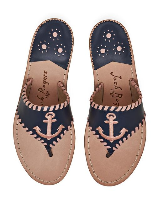 Jack Rogers | Blue Exclusive Anchor Sandal | Lyst