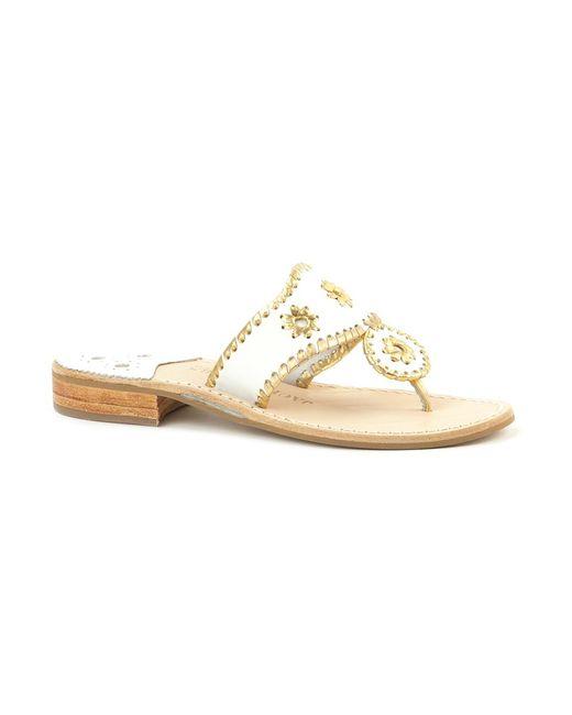 Jack Rogers | Metallic Thong Sandal | Lyst