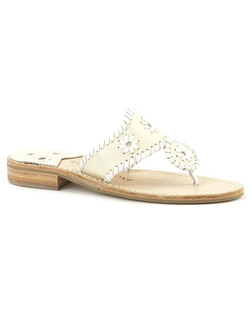 Jack Rogers | White Wide Palm Beach Sandal | Lyst
