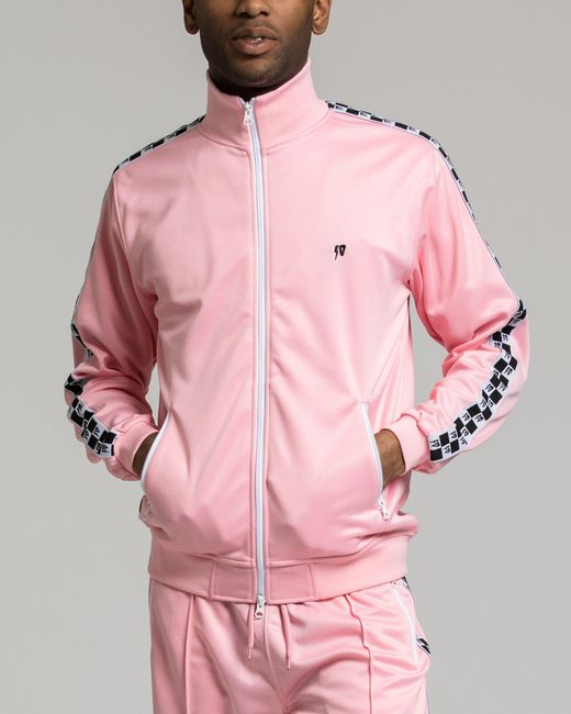 10.deep - Pink Checkered Flag Tack Jacket for Men - Lyst