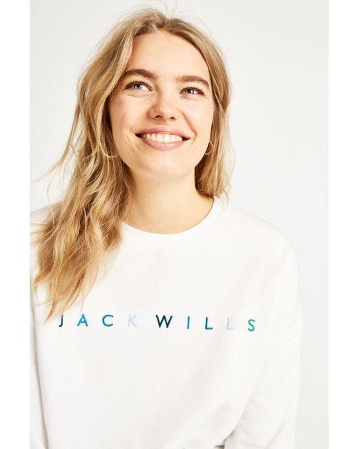 Jack Wills - White Madingley Embroidered Sweatshirt - Lyst