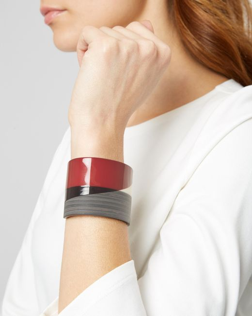 Jaeger - Red Graphic Resin Cuff - Lyst