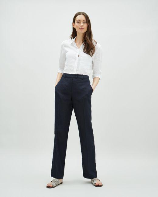 Jaeger - Blue Parallel Linen Trouser - Lyst