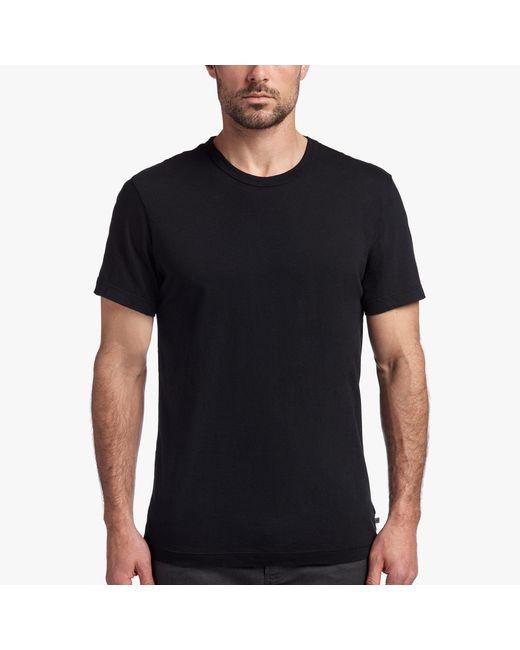 James Perse Black Short Sleeve Crew Neck for men