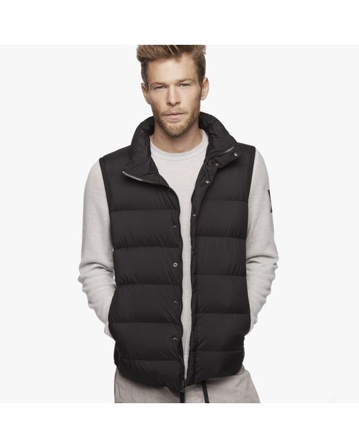 James Perse | Black Yosemite Matte Nylon Puffer Vest for Men | Lyst