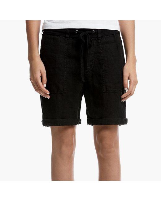 James Perse | Black Linen Surplus Short | Lyst