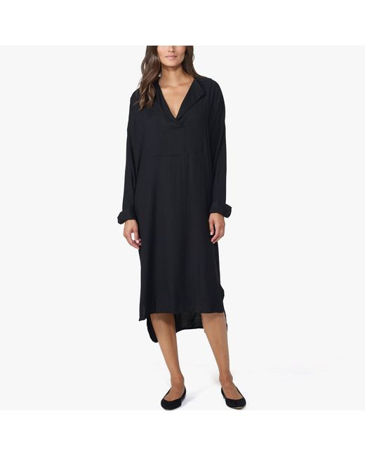 James Perse | Black Oversized Tuxedo Shirt Dress - Online Exclusive | Lyst