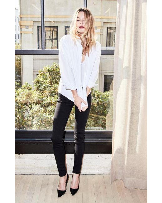J Brand - 620 Mid-rise Super Skinny In Seriously Black - Lyst